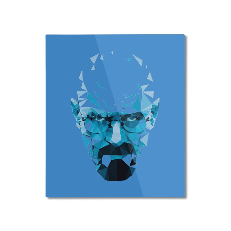 Mr. White's Blue Home Mounted Aluminum Print by ToySkull