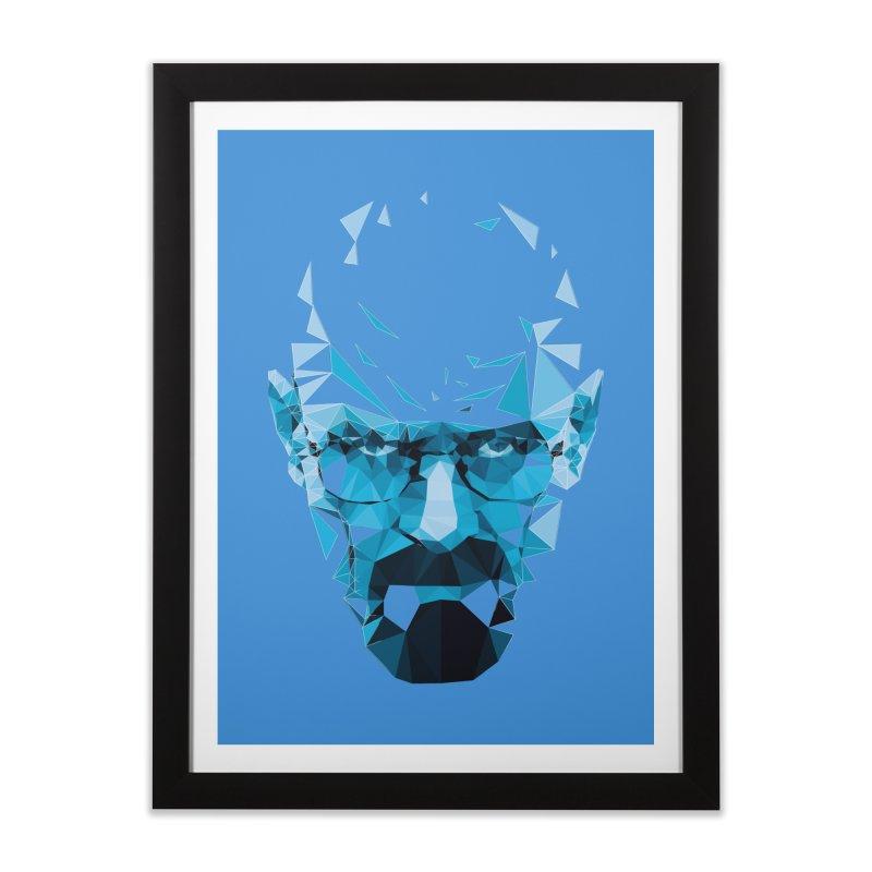 Mr. White's Blue Home Framed Fine Art Print by ToySkull