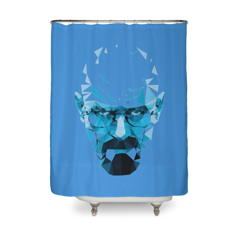 Mr. White's Blue Home Shower Curtain by ToySkull