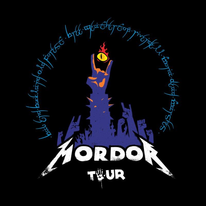 THE ROAD TO MORDOR Men's T-Shirt by ToySkull