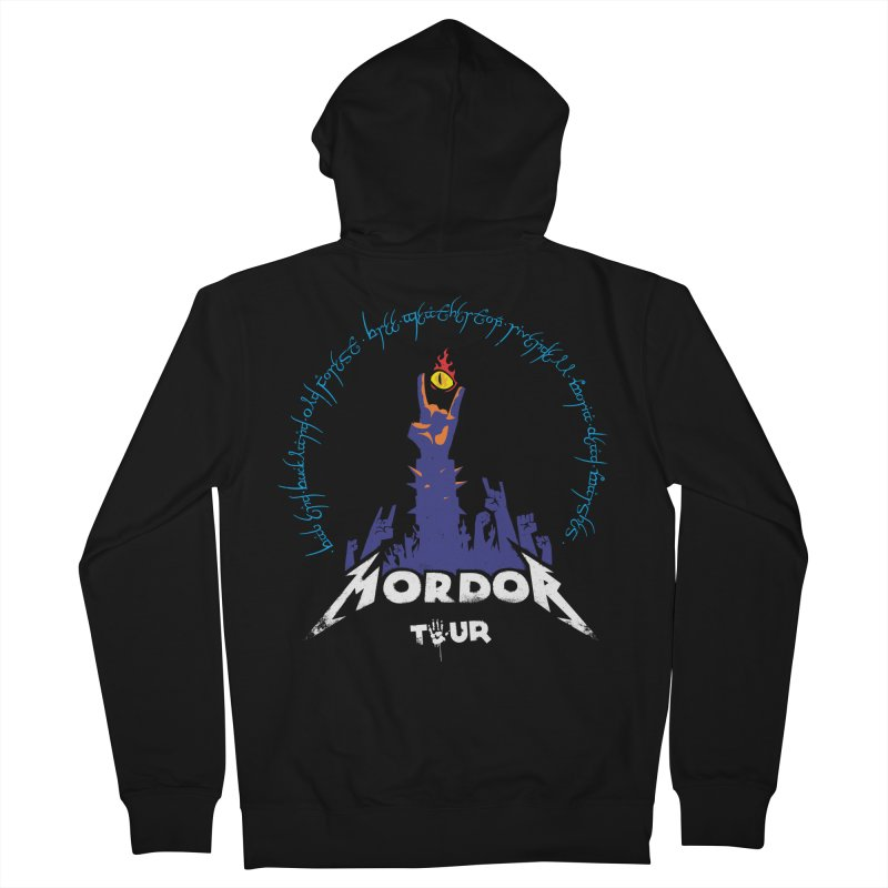 THE ROAD TO MORDOR Men's Zip-Up Hoody by ToySkull