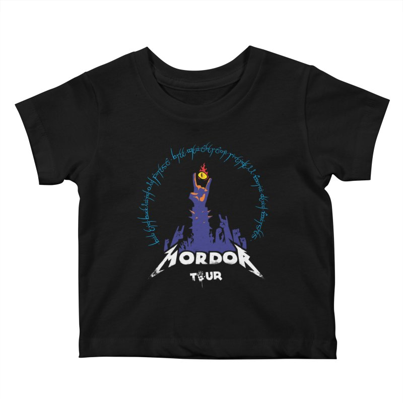 THE ROAD TO MORDOR Kids Baby T-Shirt by ToySkull
