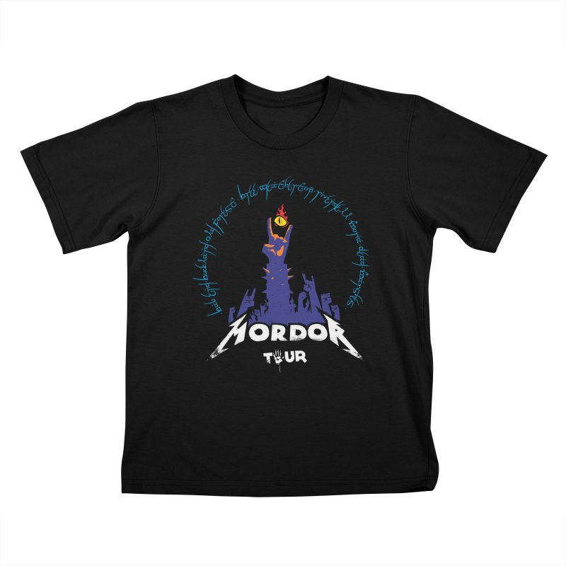 THE ROAD TO MORDOR Kids T-Shirt by ToySkull