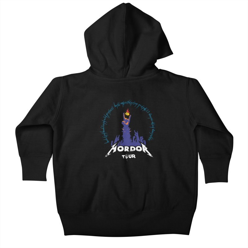 THE ROAD TO MORDOR Kids Baby Zip-Up Hoody by ToySkull