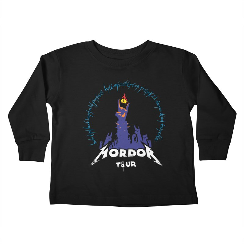 THE ROAD TO MORDOR Kids Toddler Longsleeve T-Shirt by ToySkull