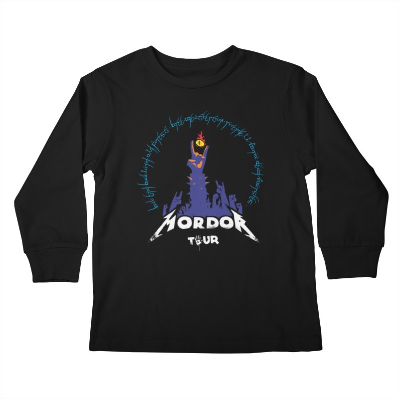 THE ROAD TO MORDOR Kids Longsleeve T-Shirt by ToySkull