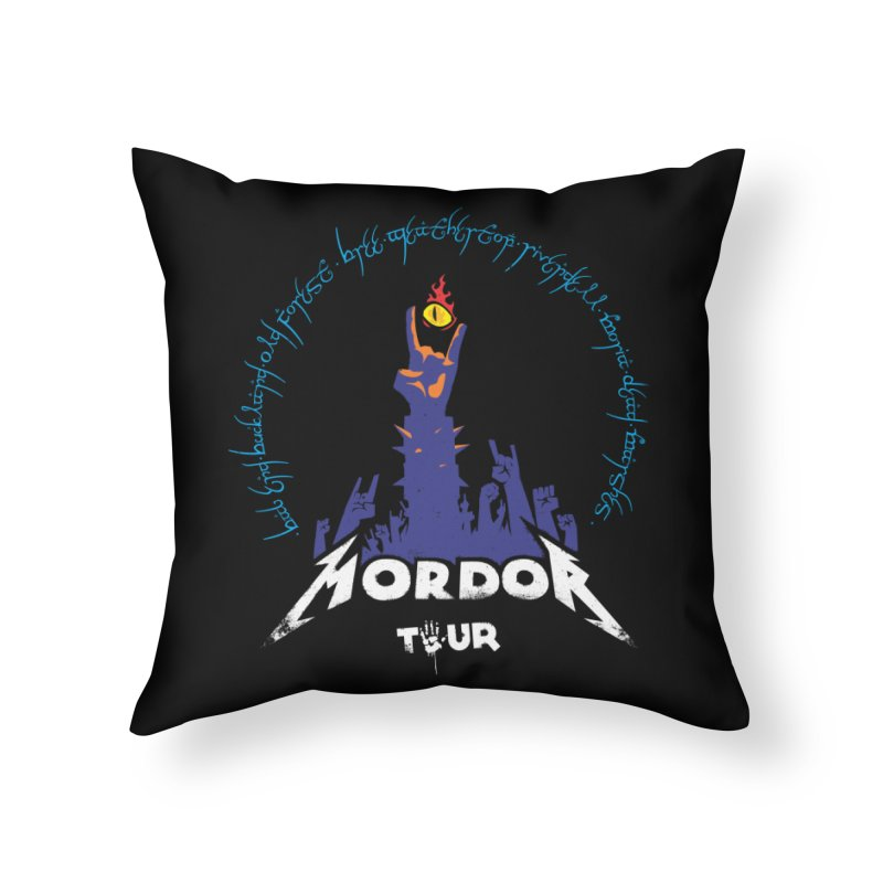 THE ROAD TO MORDOR Home Throw Pillow by ToySkull
