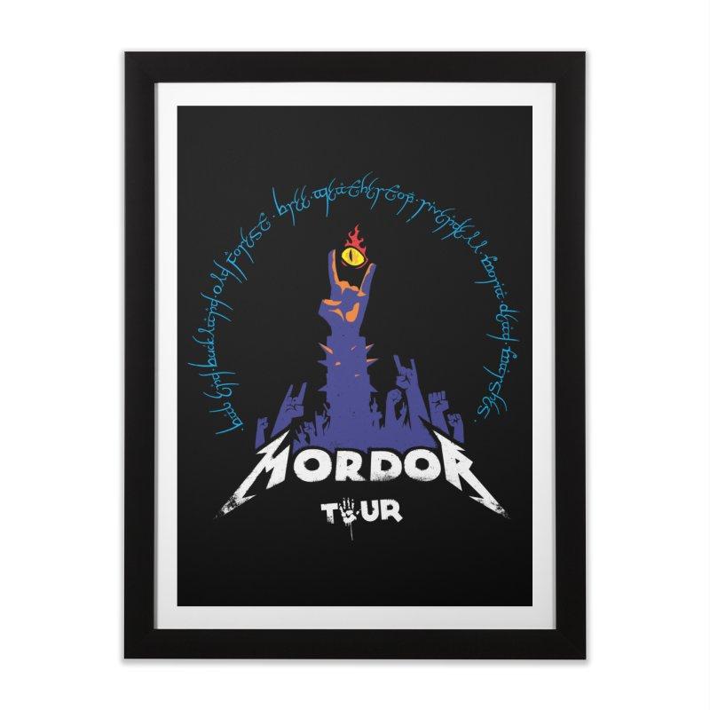 THE ROAD TO MORDOR Home Framed Fine Art Print by ToySkull