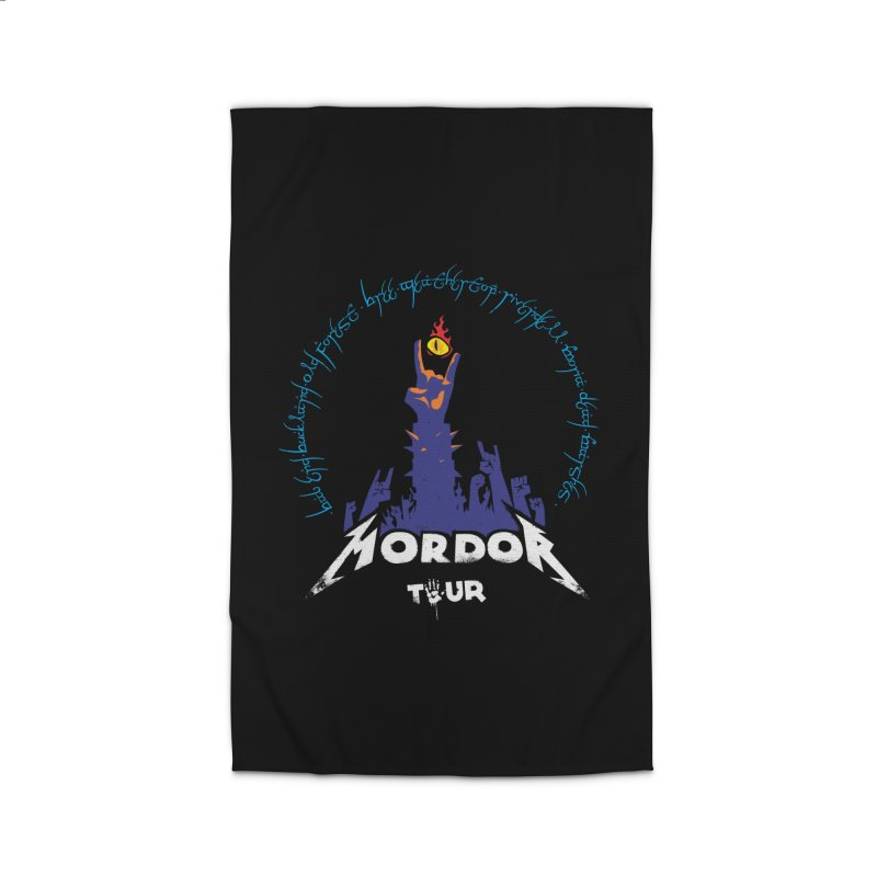 THE ROAD TO MORDOR Home Rug by ToySkull