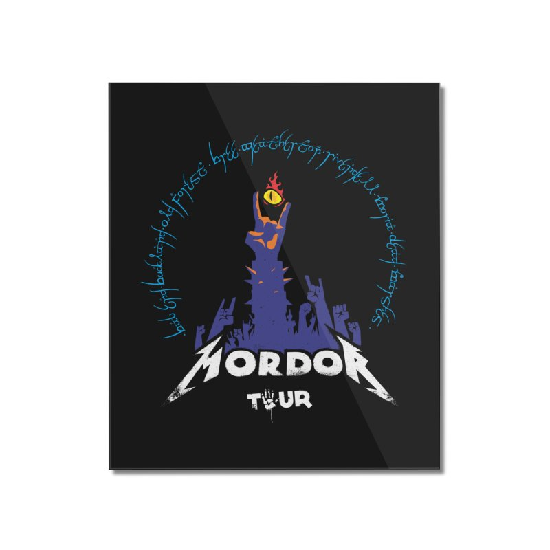 THE ROAD TO MORDOR Home Mounted Acrylic Print by ToySkull