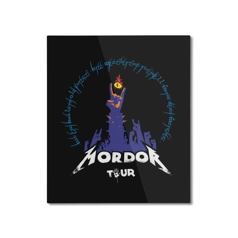 THE ROAD TO MORDOR Home Mounted Aluminum Print by ToySkull