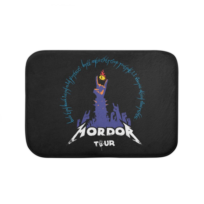 THE ROAD TO MORDOR Home Bath Mat by ToySkull