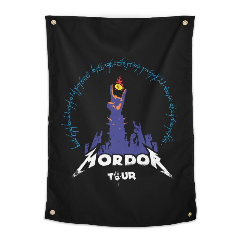 THE ROAD TO MORDOR Home Tapestry by ToySkull