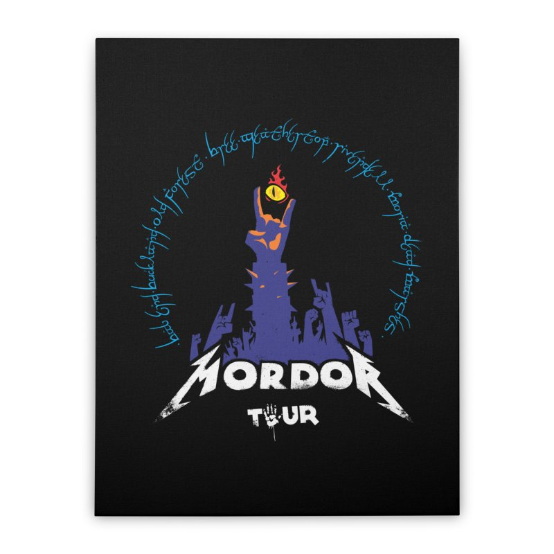 THE ROAD TO MORDOR Home Stretched Canvas by ToySkull