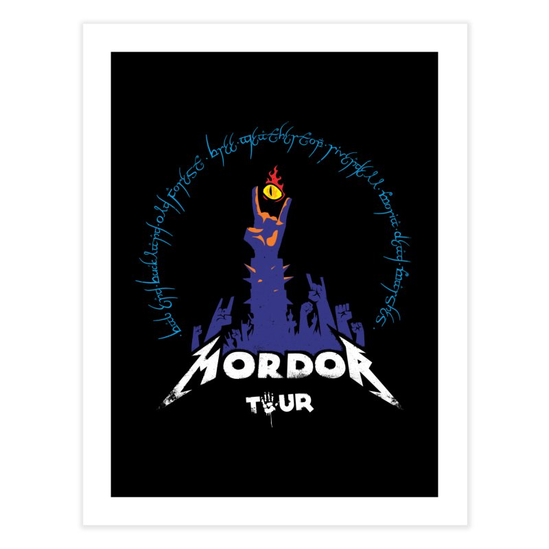 THE ROAD TO MORDOR Home Fine Art Print by ToySkull
