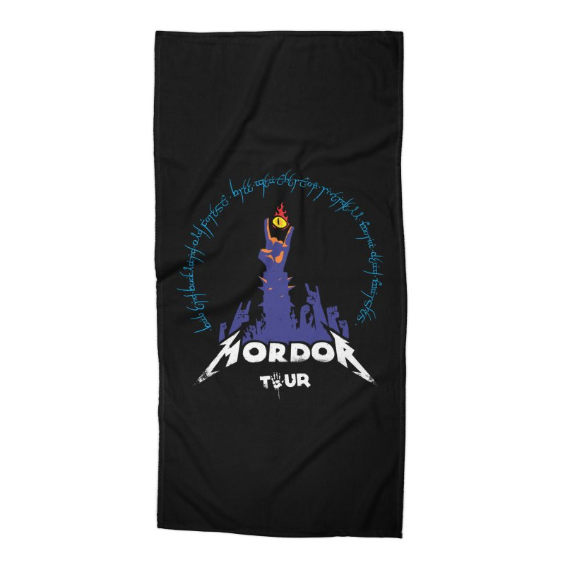 THE ROAD TO MORDOR Accessories Beach Towel by ToySkull