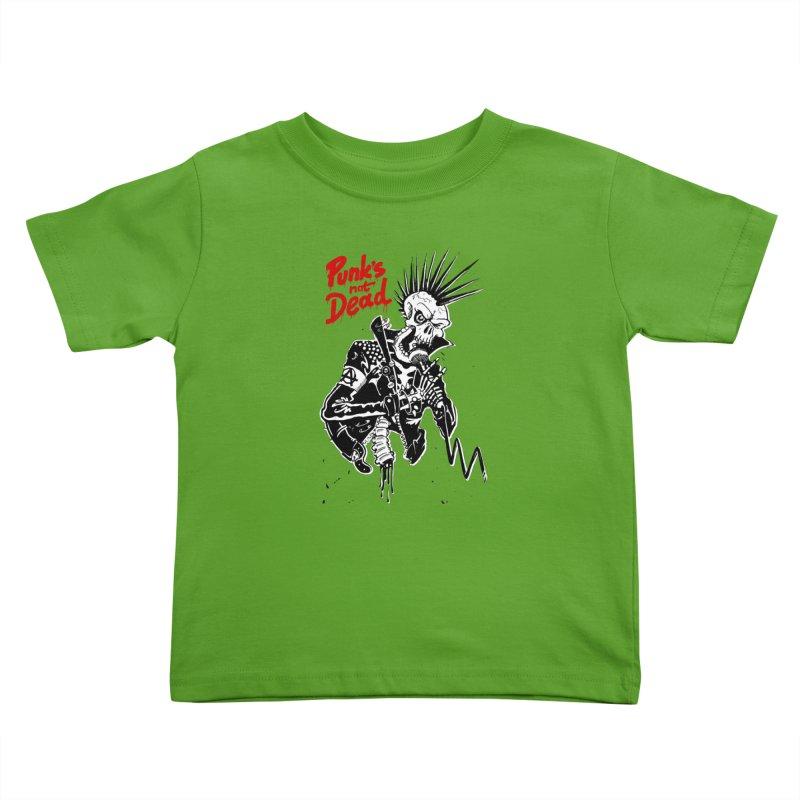 PUNK's NOT DEAD Kids Toddler T-Shirt by ToySkull