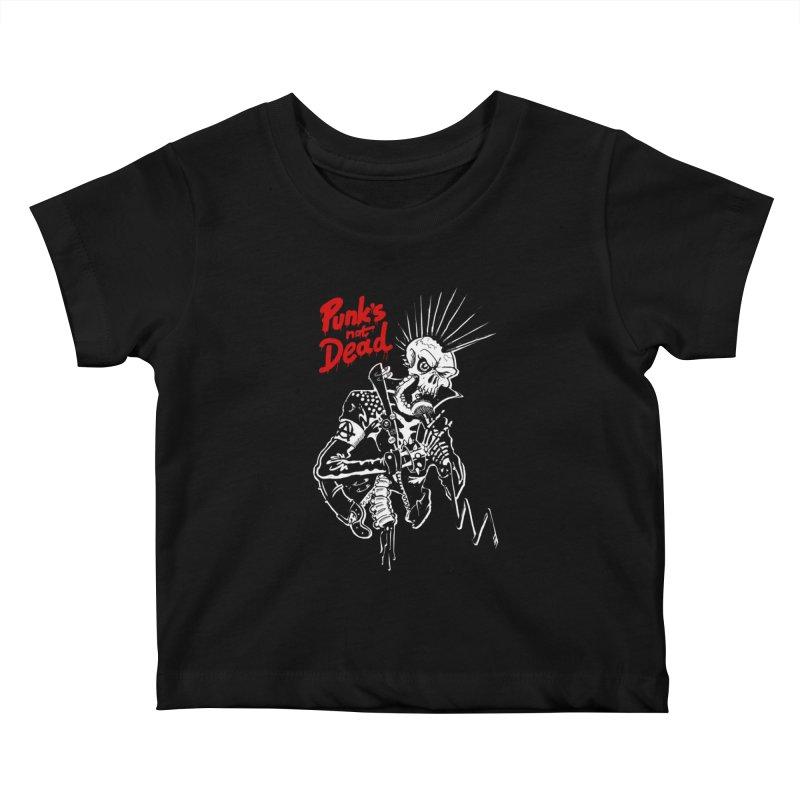PUNK's NOT DEAD Kids Baby T-Shirt by ToySkull