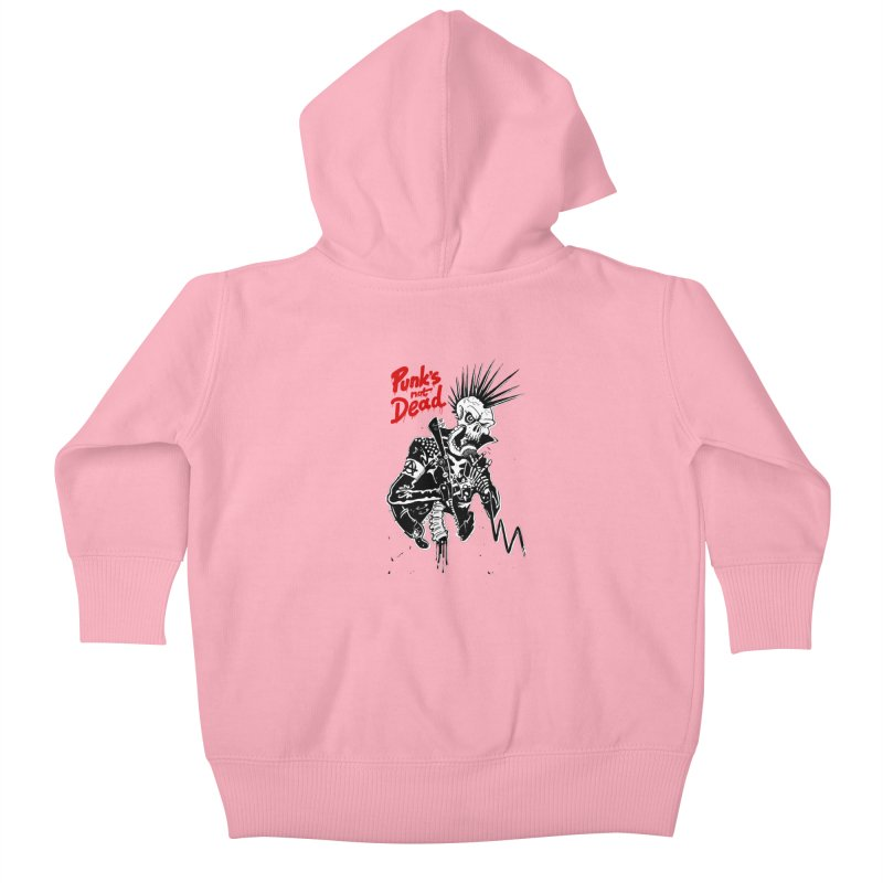 PUNK's NOT DEAD Kids Baby Zip-Up Hoody by ToySkull