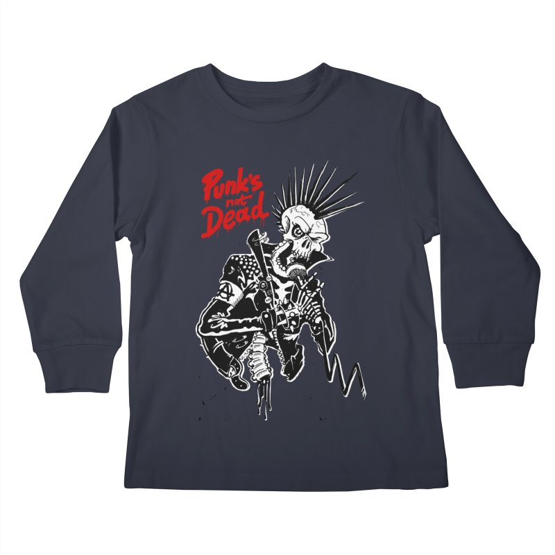 PUNK's NOT DEAD Kids Longsleeve T-Shirt by ToySkull