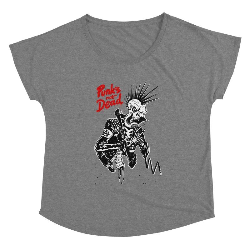 PUNK's NOT DEAD Women's Scoop Neck by ToySkull