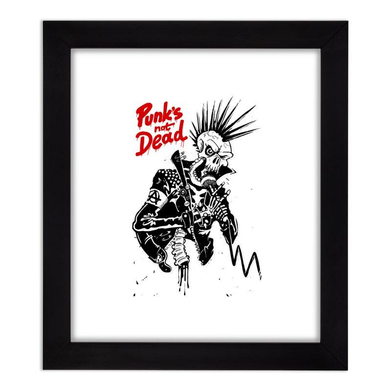 PUNK's NOT DEAD Home Framed Fine Art Print by ToySkull