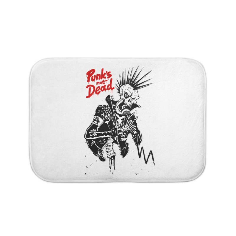 PUNK's NOT DEAD Home Bath Mat by ToySkull