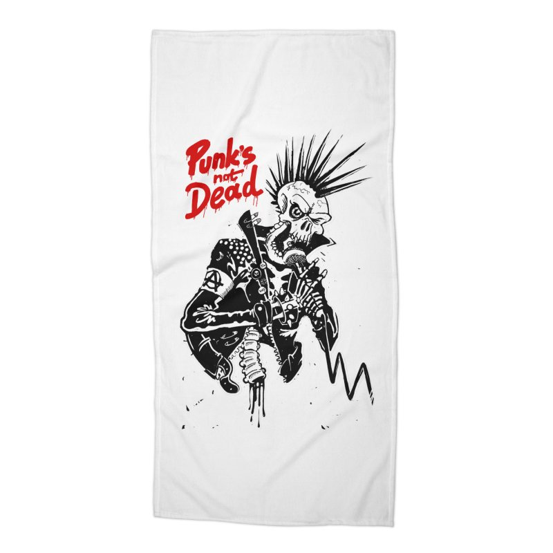 PUNK's NOT DEAD Accessories Beach Towel by ToySkull