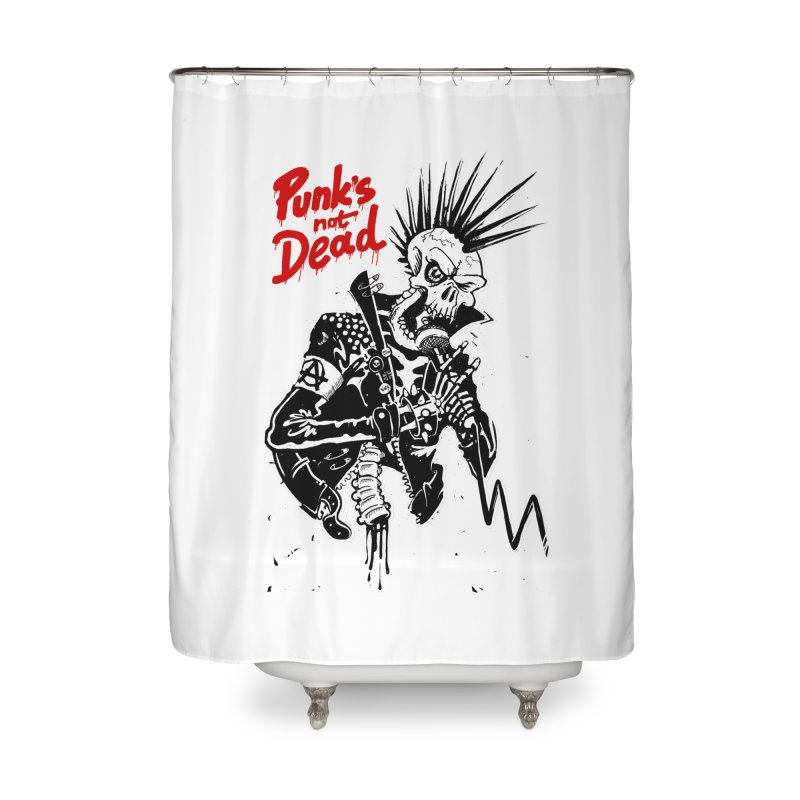 PUNK's NOT DEAD Home Shower Curtain by ToySkull