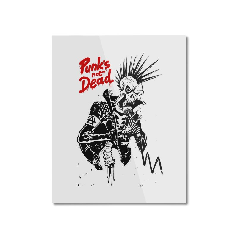 PUNK's NOT DEAD Home Mounted Aluminum Print by ToySkull