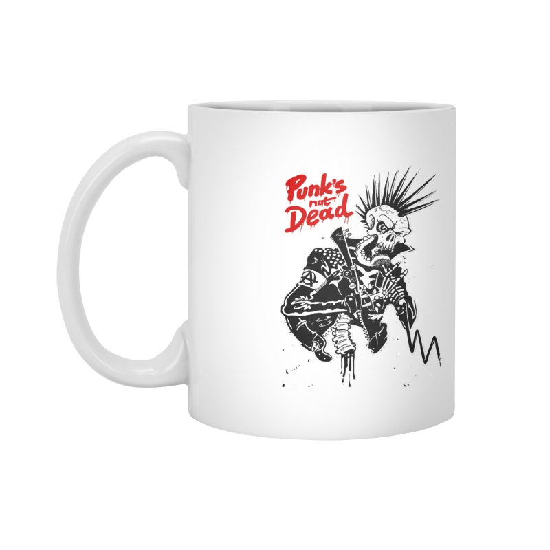 PUNK's NOT DEAD Accessories Mug by ToySkull
