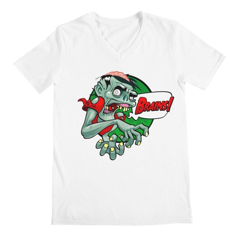 Zombie Men's V-Neck by ToySkull