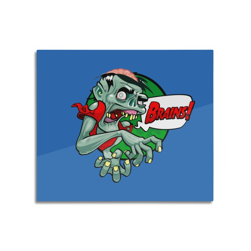 Zombie Home Mounted Aluminum Print by ToySkull