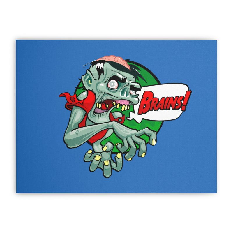 Zombie Home Stretched Canvas by ToySkull