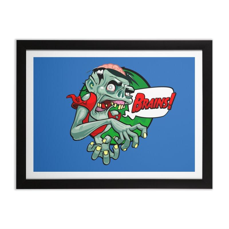 Zombie Home Framed Fine Art Print by ToySkull