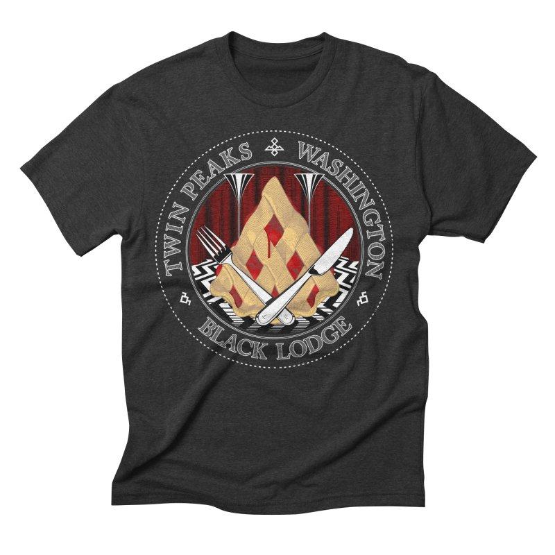 Black Lodge Men's T-Shirt by ToySkull