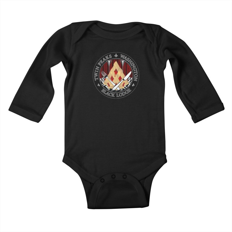 Black Lodge Kids Baby Longsleeve Bodysuit by ToySkull