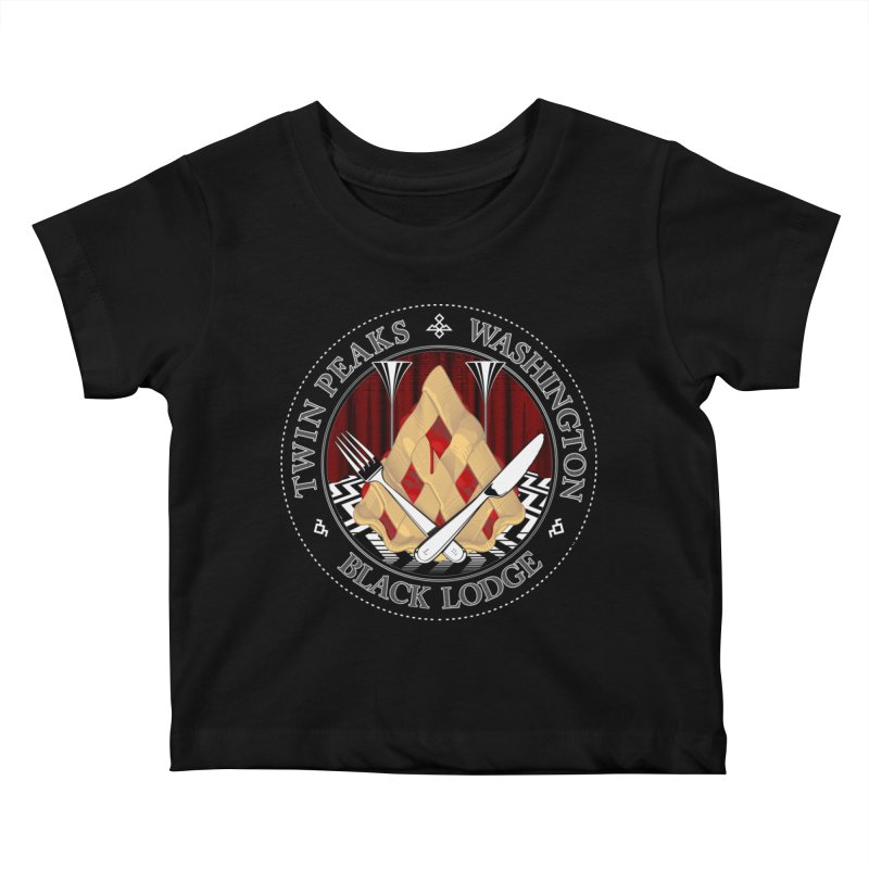 Black Lodge Kids Baby T-Shirt by ToySkull