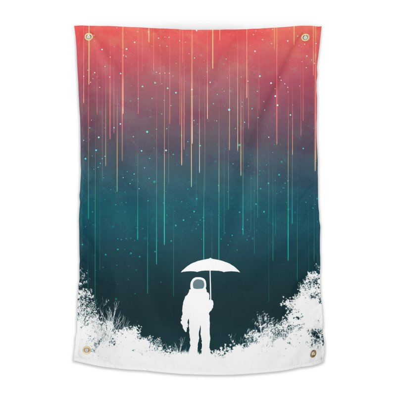 Meteor Shower Home Tapestry by Trabu - Graphic Art Shop