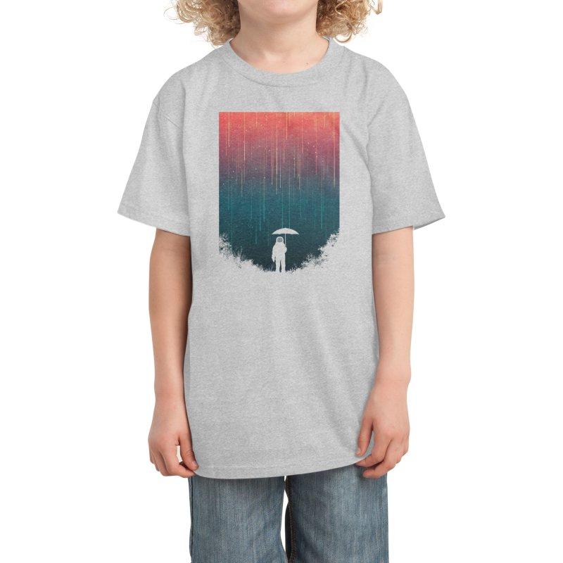 Meteor Shower Kids T-Shirt by Trabu - Graphic Art Shop