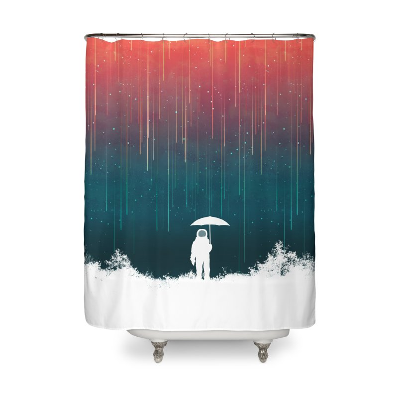 Meteor Shower Home Shower Curtain by Trabu - Graphic Art Shop