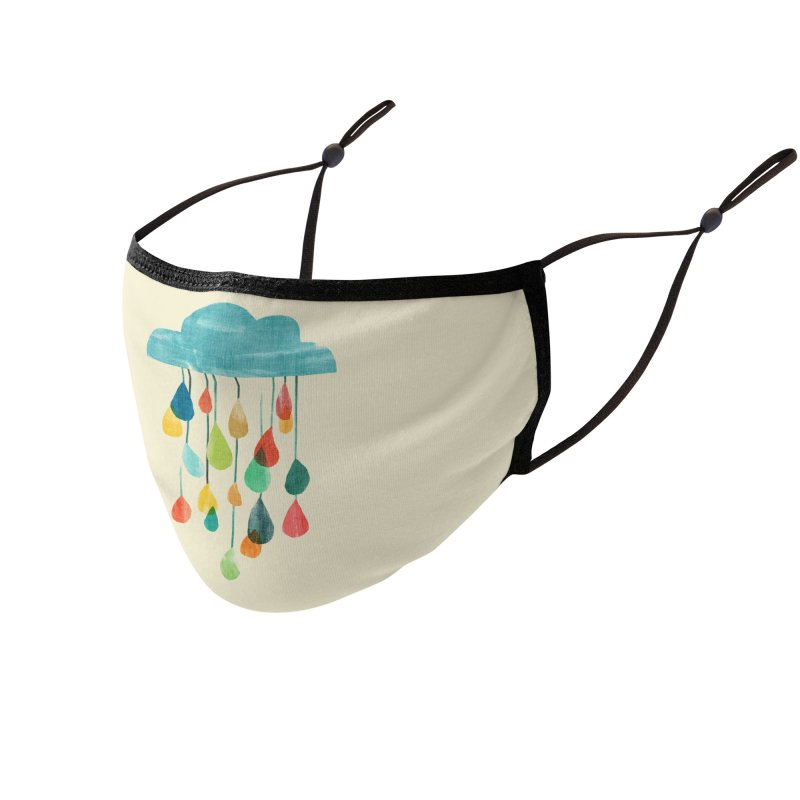 It is raining rainbow Accessories Face Mask by Trabu - Graphic Art Shop