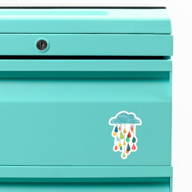 It is raining rainbow Accessories Magnet by Trabu - Graphic Art Shop