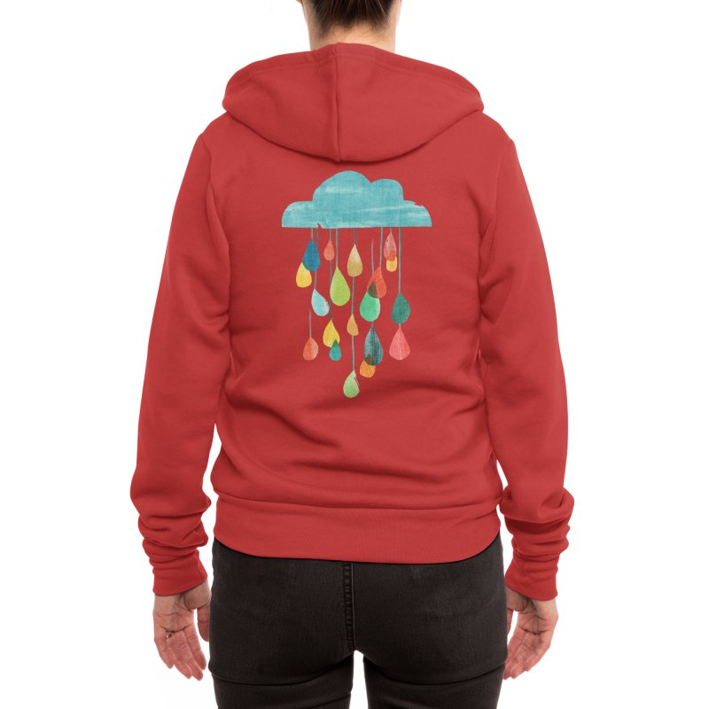 It is raining rainbow Women's Zip-Up Hoody by Trabu - Graphic Art Shop