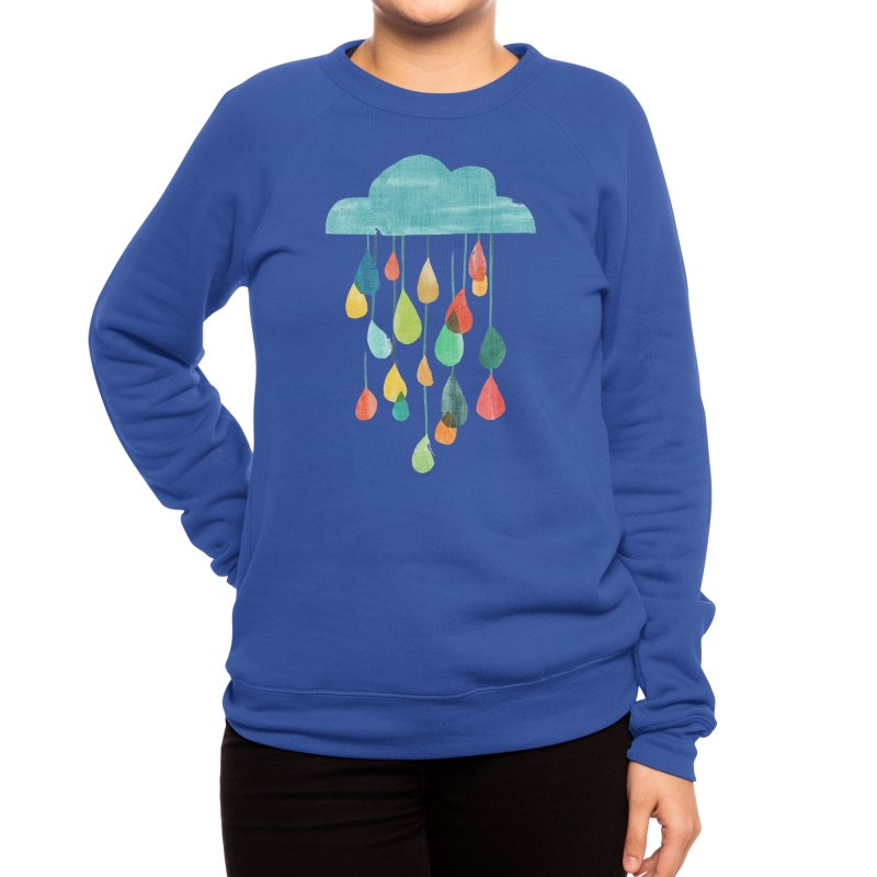 It is raining rainbow Women's Sweatshirt by Trabu - Graphic Art Shop