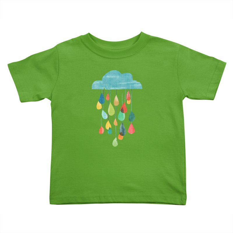It is raining rainbow Kids Toddler T-Shirt by Trabu - Graphic Art Shop