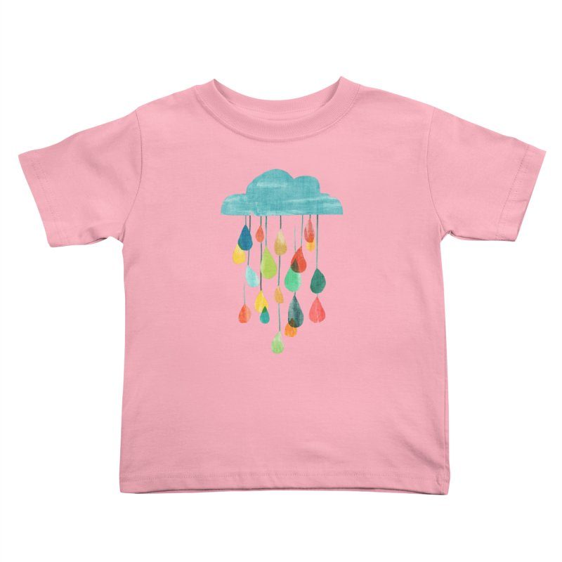 It is raining rainbow Kids Toddler T-Shirt by Trabu - Graphic Art Shop