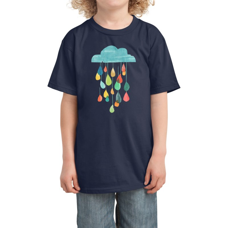 It is raining rainbow Kids T-Shirt by Trabu - Graphic Art Shop
