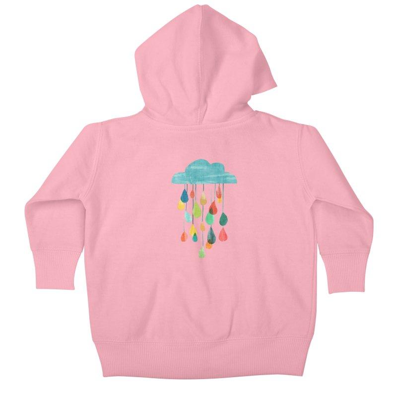 It is raining rainbow Kids Baby Zip-Up Hoody by Trabu - Graphic Art Shop