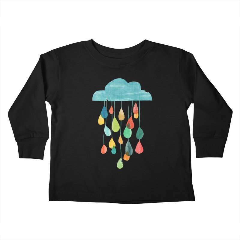 It is raining rainbow Kids Toddler Longsleeve T-Shirt by Trabu - Graphic Art Shop